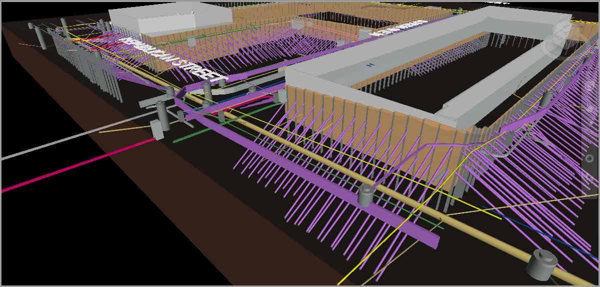 Пример моделирования подземных коммуникаций