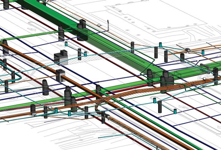 Создание 3D Моделей подземных коммуникаций, схема